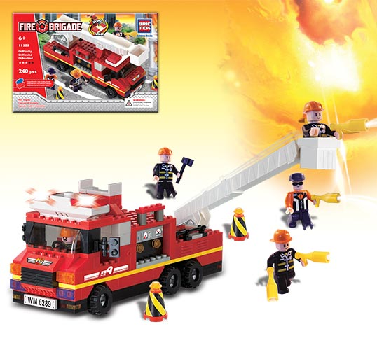 Brictek Firefighter Set: Fire Engine