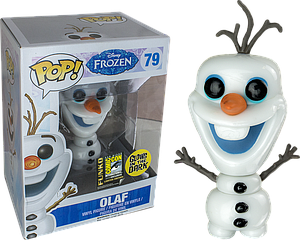Pop! Disney Frozen Vinyl Figure Olaf (Glows in the Dark) #79 SDCC 2014 Exclusive (Sale)
