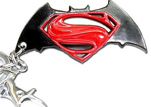 DC Comics Keychain Superman vs Batman (Color)