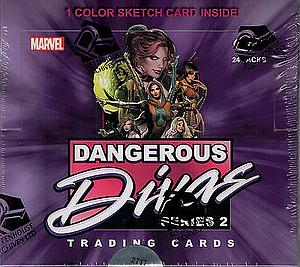 Rittenhouse Marvel Drangeous Divas Series 2 Trading Cards: Booster Box (24 Packs)