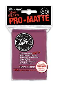 Card Sleeves 50-pack Non-Glare Pro-Matte Standard Size: Blackberry