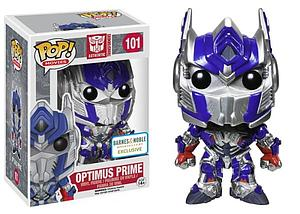 Pop! Movies Transformers Vinyl Figure Optimus Prime Metallic #101 Barnes & Noble Exclusive