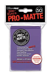 Non-Glare Pro-Matte: Purple Standard Card Sleeves (66mm x 91mm)