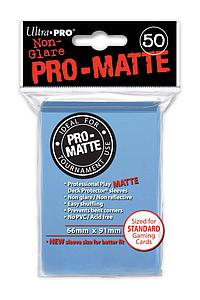 Card Sleeves 50-pack Non-Glare Pro-Matte Standard Size: Light Blue