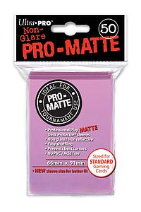 Non-Glare Pro-Matte: Pink Standard Card Sleeves (66mm x 91mm)