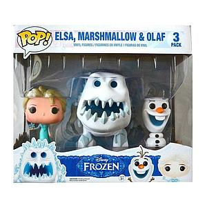 Pop! Disney Frozen 3 Pack Vinyl Figure Elsa, Marshmallow, & Olaf Walmart Exclusive