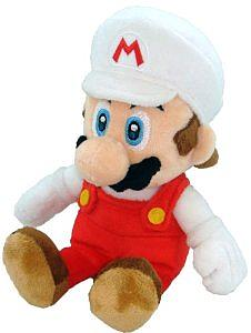 "Plush Toy Super Mario Bros 12"" Fire Mario Stand"