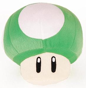 "Super Mario Bros Plush Mushroom Green 1UP (12"")"