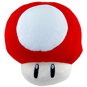 "Super Mario Bros Plush Mushroom Red (12"")"