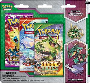 Pokemon TCG Mega Evolution Collector's Rayquaza Pin 3 Packs