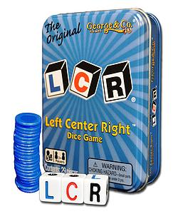 The Original LCR Left Center Right Dice Game Tin