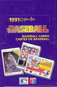 1991 O-Pee-Chee MLB Premier Baseball: Wax Box