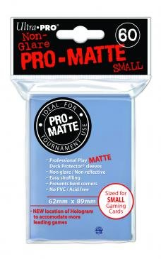 Card Sleeves 60-pack Non-Glare Pro-Matte Small Size: Clear