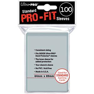 Card Sleeves 100-pack Pro-Fit Standard Size: Clear