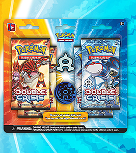 Pokemon TCG Double Crisis Team Aqua Collector Pin: Blister (4 Packs)