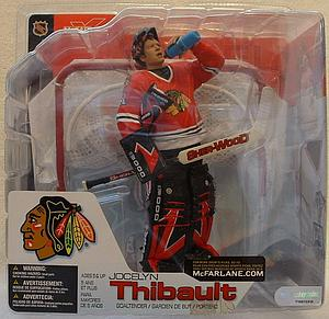 NHL Sportspicks Series 4 Jocelyn Thibault (Chicago Blackhawks) Red Jersey Variant