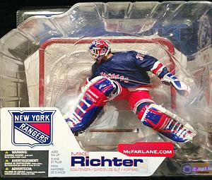 NHL Sportspicks Series 4 Mike Richter (New York Rangers) Blue Jersey Variant