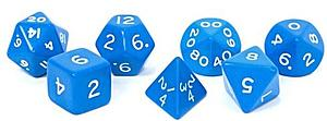 Opaque Jumbo 7-Die Set: Blue & White