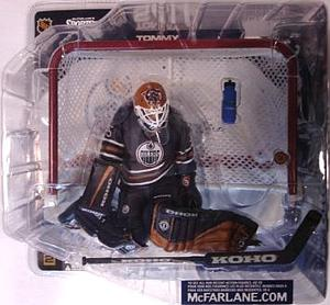 NHL Sportspicks Series 4 Action Figure Tomy Salo (Edmonton Oilers) Navy Jersey