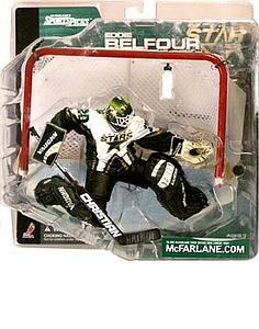 NHL Sportspicks Series 1 Eddie Belfour (Dallas Stars) White Jersey No Logo on Bottle