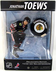 NHL Sportspicks Canadian Tire Series Jonathan Toews with Puck (Chicago Blackhawks) Black Jersey Exclusive