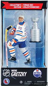 NHL Sportspicks Canadian Tire Series Wayne Gretzky with Stanley Cup (Edmonton Oilers) White Jersey Exclusive