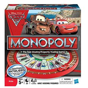 Monopoly: Cars 2 Lightning McQueen Race Track Game