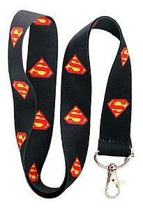 DC Superman Lanyard Black