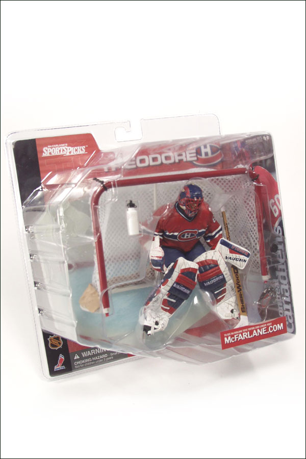 NHL Sportspicks Series 1 Jose Theodore (Montreal Canadiens) Red Jersey No Logo on Bottle