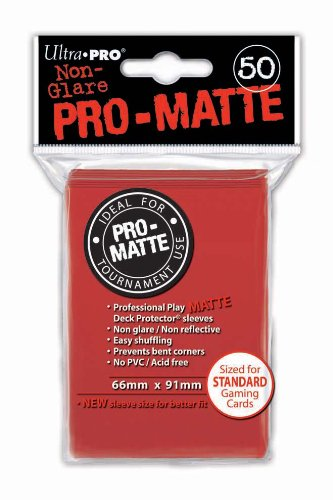 Card Sleeves 50-pack Non-Glare Pro-Matte Standard Size: Red