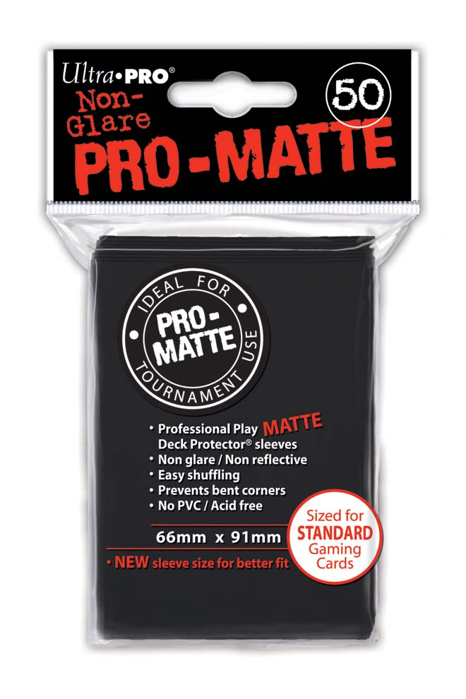 Card Sleeves 50-pack Non-Glare Pro-Matte Standard Size: Black