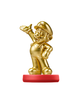 Nintendo Super Mario Amiibo Mini Figure: Mario Gold Edition