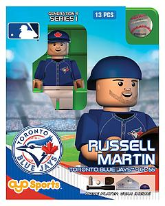 OYO Toys MLB Generations OYO Building Brick Minifigure: Russell Martin Blue Jersey (Toronto Blue Jays)