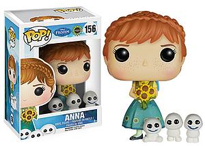 Pop! Disney Frozen Vinyl Figure Fever Anna #156 (Retired)