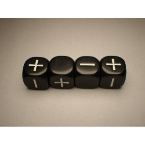 Fudge Dice - Black 4-Pack