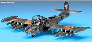 A-37B Dragonfly Airplane Model Kit (1:72 Scale)