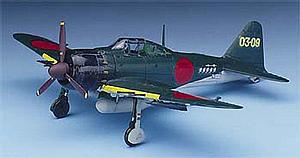 A6M5c Zero Fighter Type 52c Airplane Model Kit (1:72 Scale)