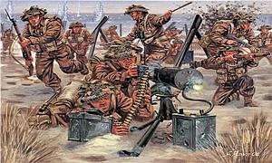 World War II British Infantry Miniatures Model Kit (1:72 Scale)