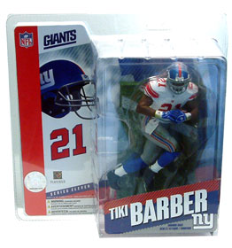 NFL Sportspicks Series 11: Tiki Barber White Jersey Variant (New York Giants)
