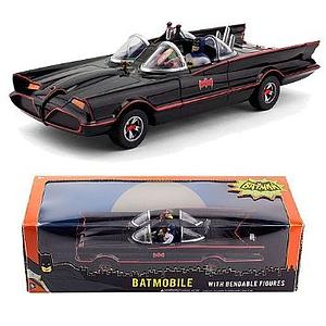 Batman 1966 Classic TV Series Batmobile with Bendable Figures