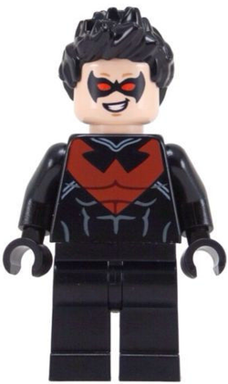 DC Comics SuperHeroes Minifigure: Nightwing (New 52 Red)
