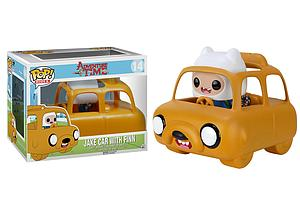 Pop! Rides Television Adventure Time Vinyl Rides Figure Jake Car with Finn #14 (Vaulted)