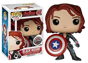 Pop! Marvel Avengers Age of Ultron Vinyl Bobble-Head Black Widow (with Shield) #103 Gamestop Exclusive (EB Games Sticker)