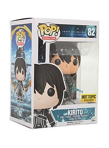 Pop! Animation Sword Art Online Vinyl Figure Kirito #82 Hot Topic Exclusive