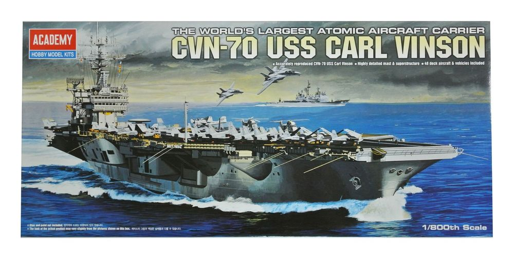 CVN-70 USS Carl Vinson Ship Model Kit (1:800 Scale)