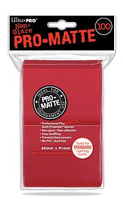 Card Sleeves 100-pack Non-Glare Pro-Matte Standard Size: Red