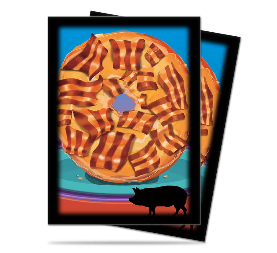 Card Sleeves 50-pack Standard Size: Foodie Bacon Donut
