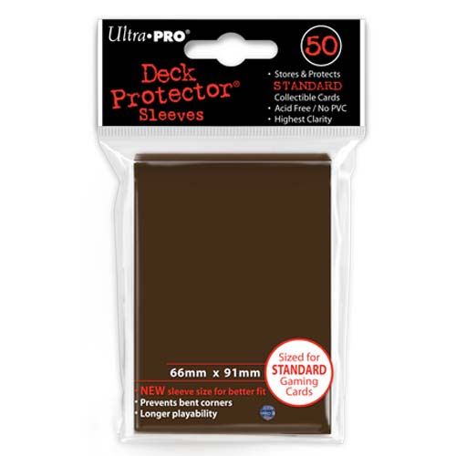 Card Sleeves 50-pack Standard Size: Brown
