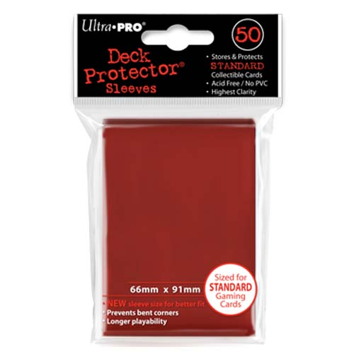 Card Sleeves 50-pack Standard Size: Red