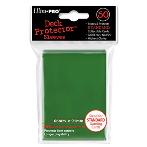 Green Standard Card Sleeves (66mm x 91mm)